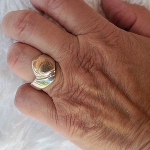 Vintage sterling abstract ring 7.75-8